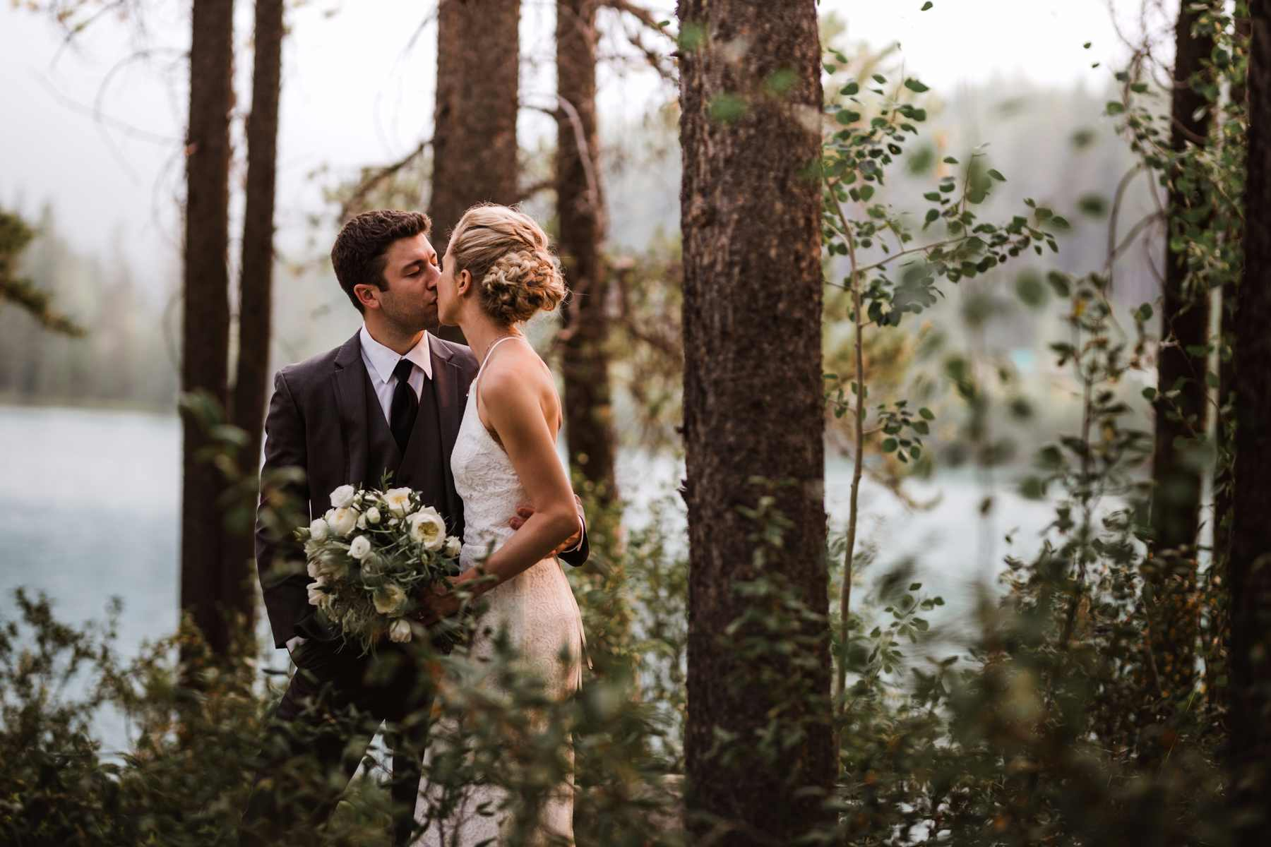 Banff Canmore Lake Louise Calgary Rocky Mountain Wedding: Film & Forest Banff Elopement Photographers